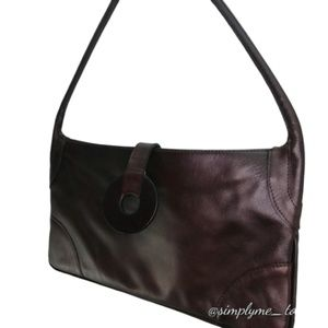 Carven Brown Leather Shoulder Bag